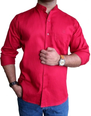 SOLEN Men's Solid Formal, Casual, Party Red Shirt