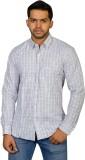 Ruti Men's Checkered Formal White Shirt