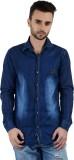 Vero Men's Solid Casual Denim Light Blue...