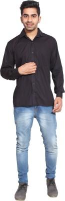 Fpc Creations Men's Solid Formal Black Shirt