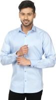 Louis Martin Formal Shirts (Men's) - Louis Martin Men's Solid Formal Light Blue Shirt