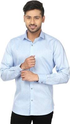 Louis Martin Men's Solid Casual, Formal Light Blue Shirt