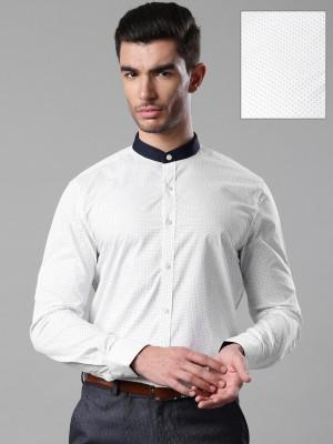 Invictus Men's Printed Formal White Shirt