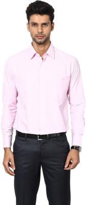 Shaftesbury London Men's Striped Casual Pink Shirt