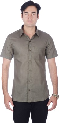 Darzii Men's Solid Casual Grey Shirt