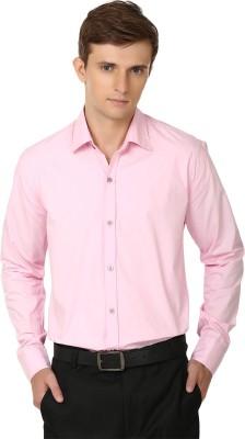 Alan Woods Men's Solid Casual Pink Shirt