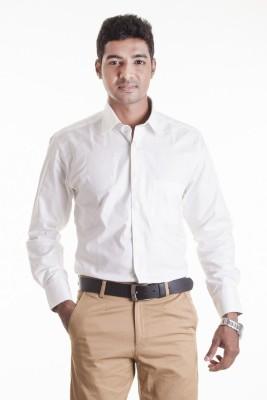 Sting Men,s Solid Formal White Shirt