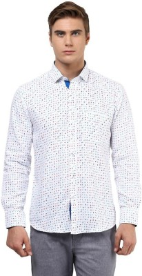 The Vanca Men's Printed Casual Blue Shirt