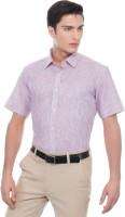 Helg Formal Shirts (Men's) - Helg Men's Striped Formal Linen Red Shirt
