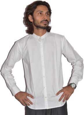 Fpc Creations Men's Solid Casual White Shirt