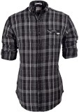 So Design Men's Checkered Casual Black S...