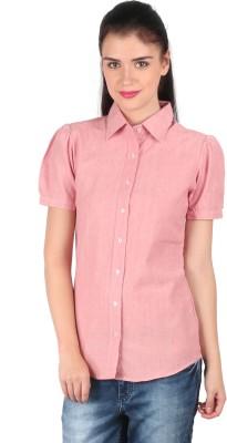 Mahikrite Women's Solid Formal Pink Shirt
