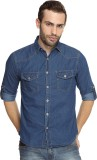 Breakbounce Men's Solid Casual Blue Shir...