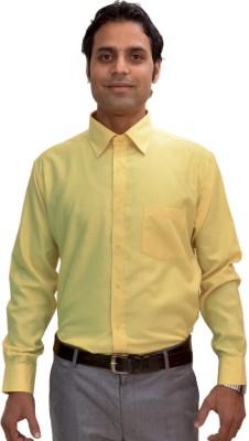 AVS Polo Men's Solid Casual Yellow Shirt