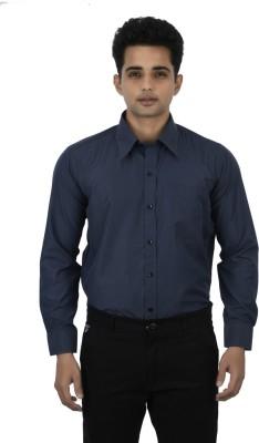 Binnote Men's Solid Formal Grey Shirt