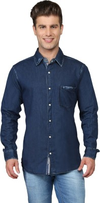 Ripfly Men's Solid Casual Blue Shirt