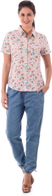 House of Tantrums Women's Floral Print Casual Multicolor Shirt