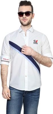 Allen Solly Men,s Geometric Print Sports White Shirt