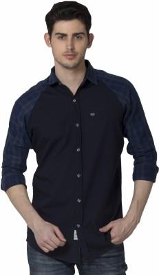 XARO Men's Checkered Casual Blue Shirt