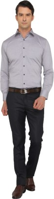 Donear NXG Men's Solid Formal Grey Shirt