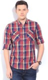 Lee Men's Checkered Casual Red Shirt