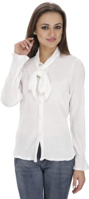 Svt Ada Collections Women's Solid Party White Shirt