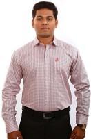 Iconic Formal Shirts (Men's) - Iconic Men's Self Design Formal Pink Shirt