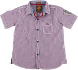 Jim & Jam Boys Checkered Casual Purple S...