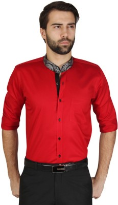 Redcountry Men's Solid Casual Red Shirt