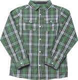 Mothercare Boys Checkered Casual Green S...