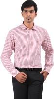 Stoff Formal Shirts (Men's) - Stoff Men's Checkered Formal Red, White Shirt