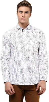 The Vanca Men's Printed Casual Grey Shirt