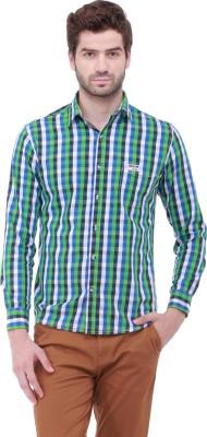Jogur Men's Checkered Casual Blue Shirt