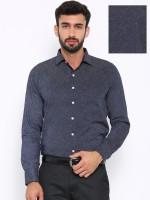 Shaftesbury London Formal Shirts (Men's) - Shaftesbury London Men's Printed Formal Black Shirt