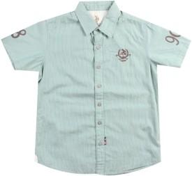 Us Polo Kids Boys Striped Casual Green Shirt