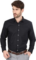 First Row Formal Shirts (Men's) - First Row Men's Solid Formal Black Shirt