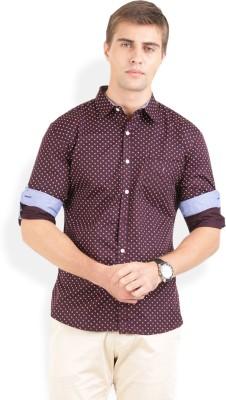 Bay Ridge Men's Printed Casual Brown Shirt