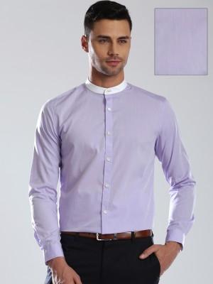 Invictus Men's Solid Formal Purple Shirt