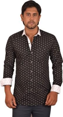 Koridor Men's Solid Formal Black Shirt