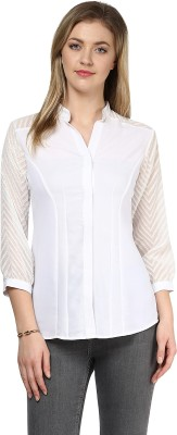 LY2 Women's Solid Casual White Shirt