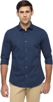 Marc N, Park Men's Solid Casual Dark Blue Shirt