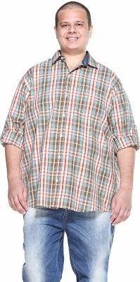 PlusS Men's Checkered Casual Multicolor Shirt