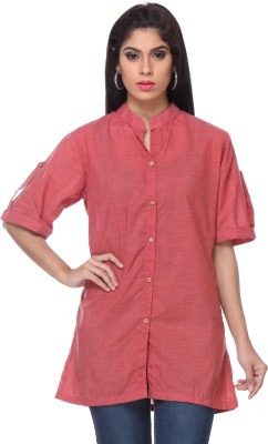 Lavennder Women's Solid Casual Pink Shirt