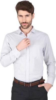 Big Tree Men,s Checkered Formal Grey Shirt