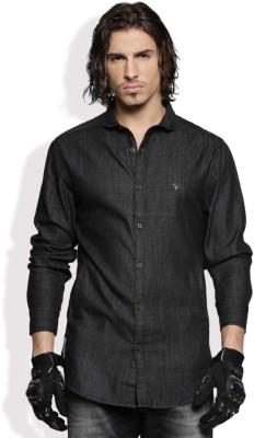 Roadster Mens Solid Casual Black Shirt
