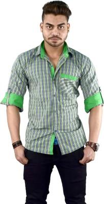 Your Desire Shirts Men's Checkered Casual Green Shirt
