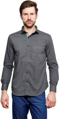99 Hunts Men's Checkered Casual Black Shirt
