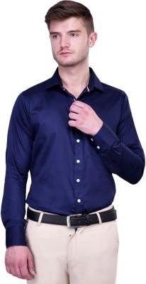 Protext Premium Men's Solid Formal Blue Shirt