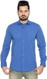 Thinc Men's Solid Formal Dark Blue Shirt