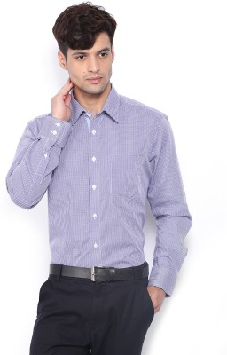 Nord51 Men's Checkered Casual Blue, White Shirt
